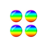 Rainbow - Set of 3D Stickers