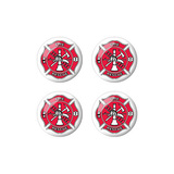Fire and Rescue Cross - Set of 3D Stickers