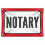 "Notary 33"" (84cm) x 22"" (56cm) Mini Vinyl Flag Banner Wall Sign"