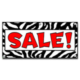 Sale Zebra Print - Store Business Sign Banner