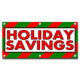 Holiday Savings - Store Business Sign Banner
