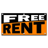 Free Rent - Retail Store Business Sign Banner