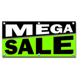 Mega Sale - Retail Store Business Sign Banner