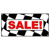 Sale Checkered Flag - Automotive Cars Business Sign Banner