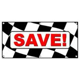 Save Checkered Flag Cars Automotive Sales - Business Sign Banner