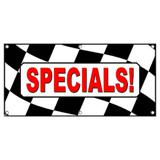 Specials Checkered Flag Cars Automotive Sales - Business Sign Banner