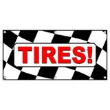 Tires Checkered Flag Sales - Business Sign Banner