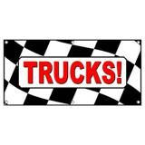 Trucks Checkered Flag Sales Used New - Business Sign Banner