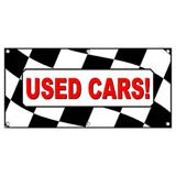Used Cars Checkered Flag - Business Sign Banner