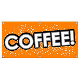 Coffee - Restaurant Cafe Bar Promotion Business Sign Banner