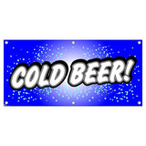 Cold Beer - Restaurant Cafe Bar Promotion Business Sign Banner