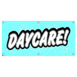 Daycare - Preschool Babysitting Promotion Business Sign Banner