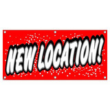 New Location - Retail Store Business Sign Banner