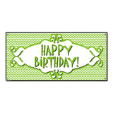 Happy Birthday Chevron Pattern Green - Party Celebration Banner