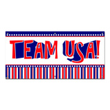 Team USA United States Patriotic Red White Blue - Party Celebration Banner