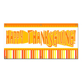 Happy Thanksgiving Fun Stripes - Party Celebration Banner