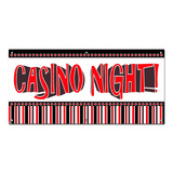 Casino Night - Games Cards Party Celebration Banner