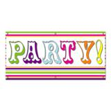 Party Colorful Stripes - Celebration Banner