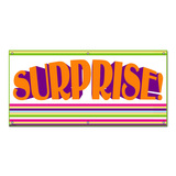 Surprise Colorful Stripes - Birthday Celebration Party Banner