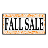 Fall Sale Autumn Leaves - Retail Store Business Sign Banner