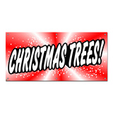 Christmas Trees Red - Seasonal Business Sign Banner
