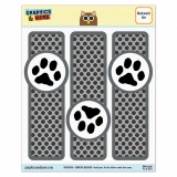 Paw Print Pet Dog Cat Glossy Laminated Bookmarks - Set of 3