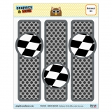 Checkered Flag Racing Glossy Laminated Bookmarks - Set of 3