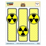 Radioactive Nuclear Warning Symbol Glossy Laminated Bookmarks - Set of 3