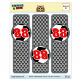 Number 88 Checkered Flag Racing Glossy Laminated Bookmarks - Set of 3