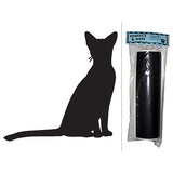 Cat Abyssinian Chalkboard Vinyl Wall Sticker