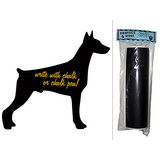 Dog Doberman Chalkboard Vinyl Wall Sticker