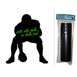 Football Player Center Chalkboard Vinyl Wall Sticker