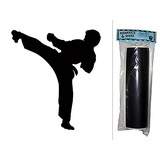 Karate Kick Chalkboard Vinyl Wall Sticker