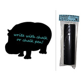 Hippopotamus Animal Africa Chalkboard Vinyl Wall Sticker