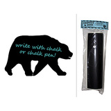 Bear Grizzly Black Brown Chalkboard Vinyl Wall Sticker