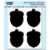 Acorns - Fall Thanksgiving - 4 Sheets Chalkboard Stickers