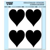 Hearts - Love Wedding Valentines Romantic - 4 Sheets Chalkboard Stickers
