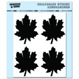 Leaves - Fall Thanksgiving - 4 Sheets Chalkboard Stickers