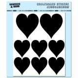 Hearts Assorted Sizes - Love Wedding Valentines Romantic - 4 Sheets Chalkboard Stickers