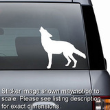 Wolf Silhouette Decal