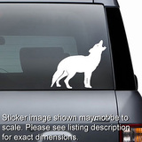 Wolf Howling Decal