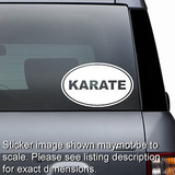Karate Euro Oval Decal