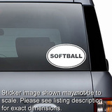 Softball Euro Oval Decal