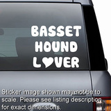 Basset Hound Lover Decal