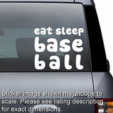 Eat Sleep Baseball Decal