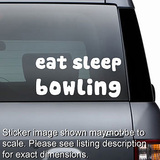 Eat Sleep Bowling Decal