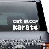 Eat Sleep Karate Decal