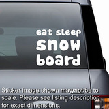 Eat Sleep Snow Board Decal