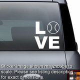 Love Baseball Softball Decal