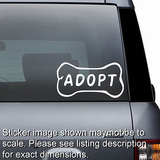 Adopt Dog Bone Decal